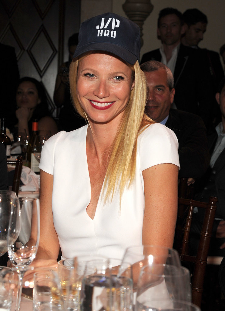 Gwyneth Paltrow wore a hat with the logo for Sean Penn's charity.