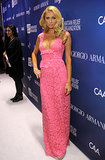 Paris Hilton also went for a rose-colored number.