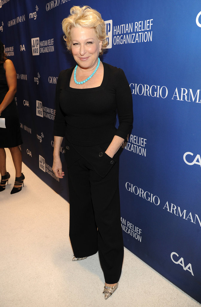 Bette Midler arrived at the event.