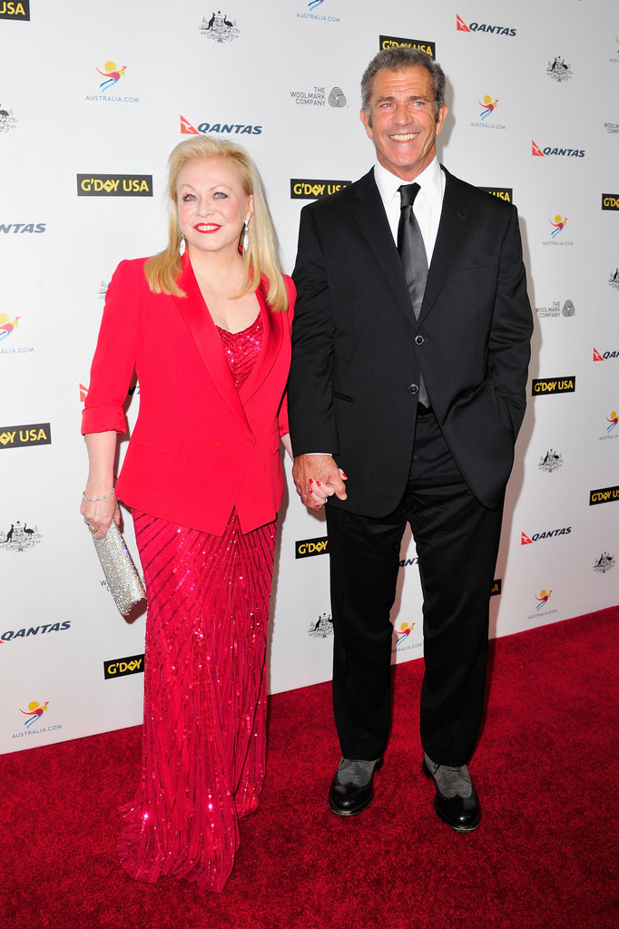 Mel and Jacki held hands as they walked down the red carpet together.