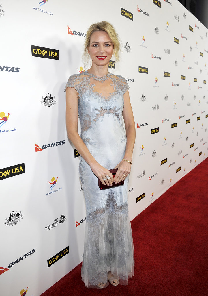 Naomi Watts went solo for the Australian event.