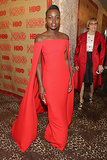 Lupita Nyong'o looked flawless at the HBO party.