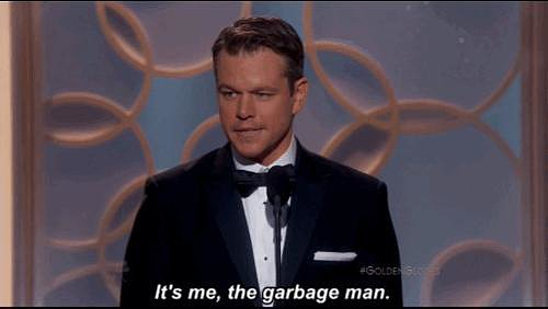 "Matt Damon Was Called a ""Garbage Man"""