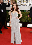Emilia Clarke at the Golden Globes in Proenza Schouler