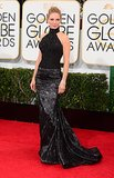 Uma Thurman at the Golden Globes in Atelier Versace