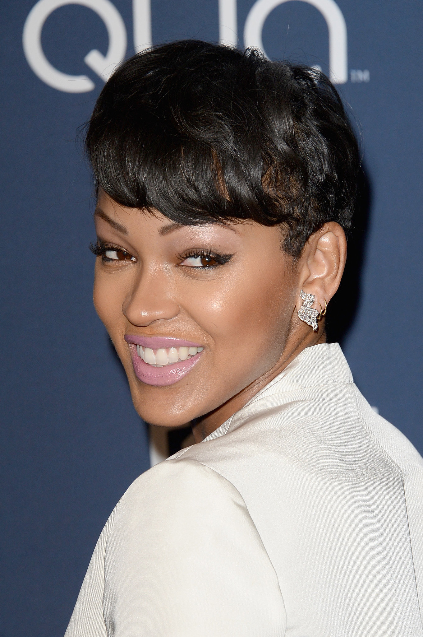 50 best meagan good short haircut unique kitchen design meagan good the afterparties keep the golden globes glamour going baditri Images