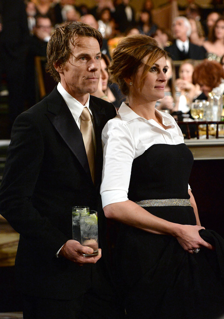 Julia Roberts and her husband, Danny Moder, stayed close. Source: Larry Busacca/NBC/NBCU Photo Bank/NBC