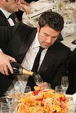Ben Affleck poured himself some Champagne. Source: Christopher Polk/NBC/NBCU Photo Bank/NBC