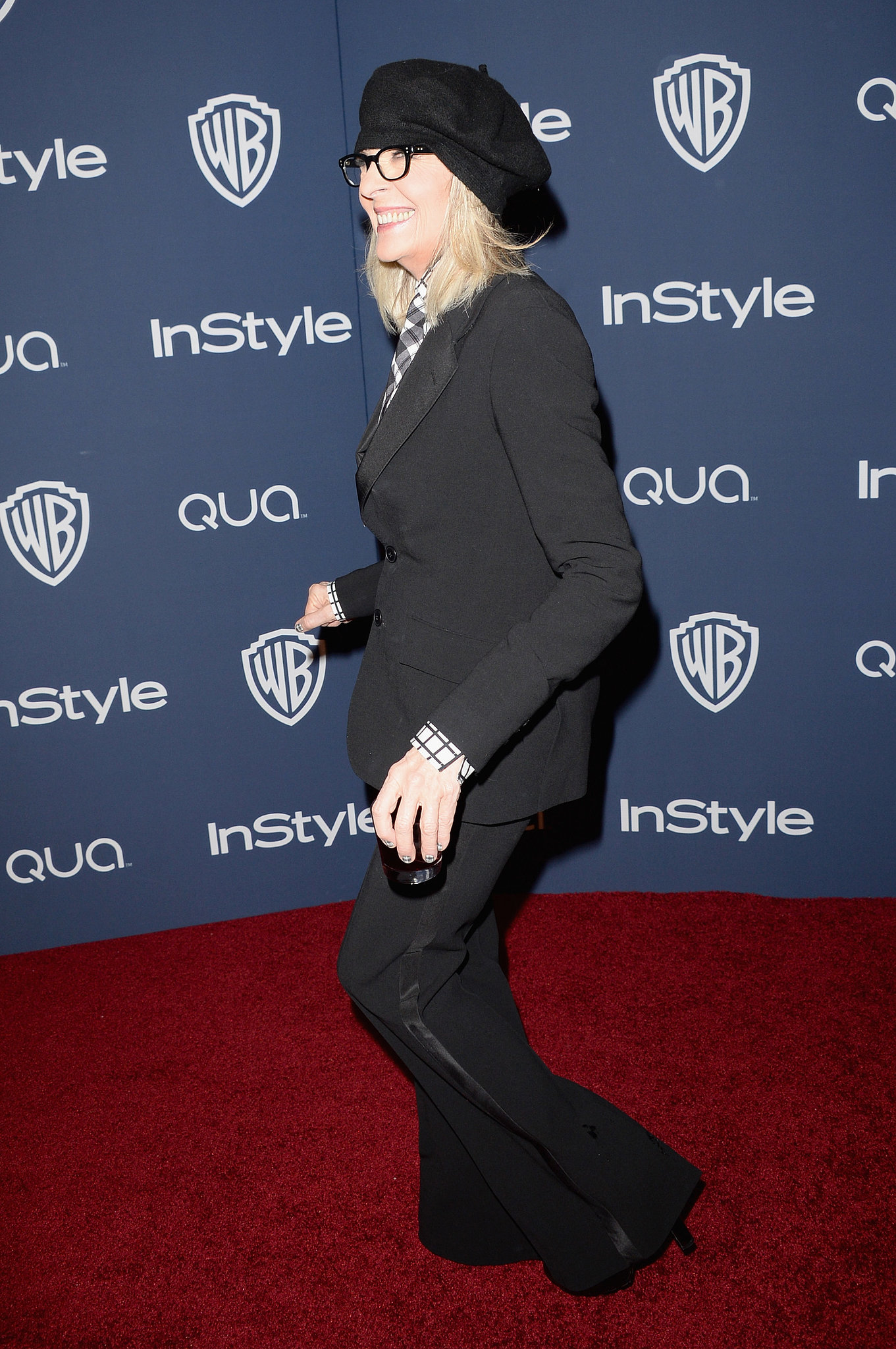 Diane Keaton made her way inside the afterp