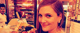 """Drew Barrymore Dives Into """"Pregnant Pizza"""" Post-Globes"""