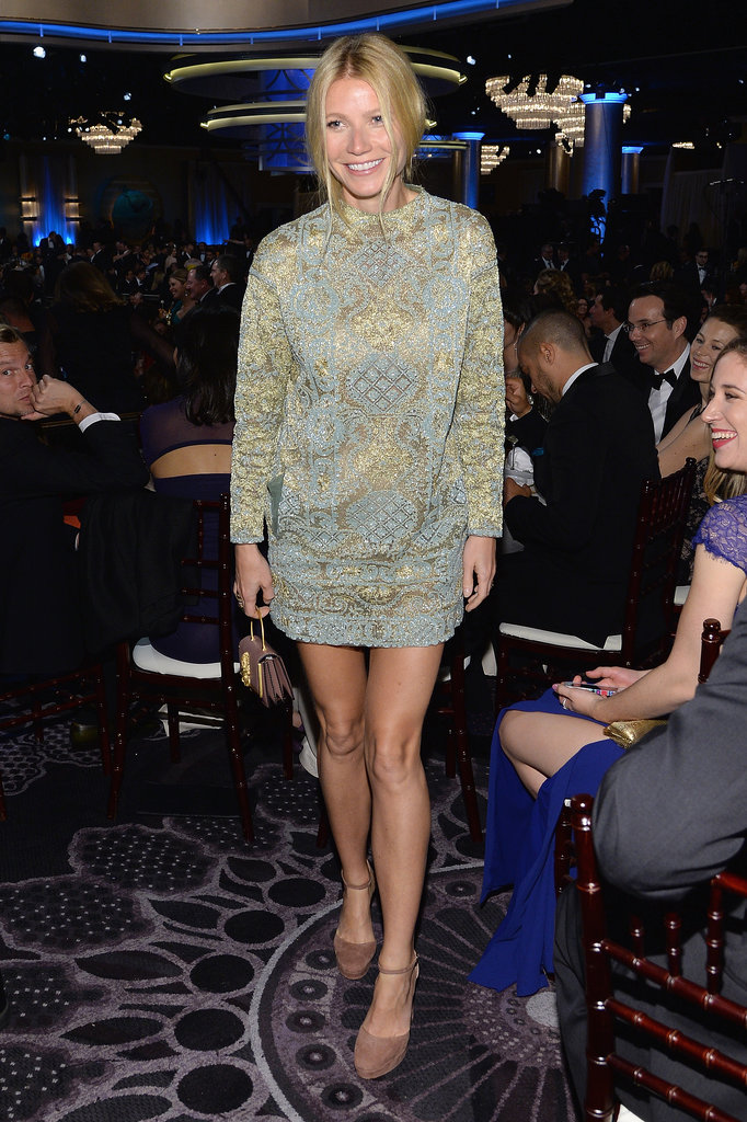 Gwyneth mixed things up in a short Valentino dress at the show.  Source: Larry Busacca/NBC/NBCU Photo Bank/NBC