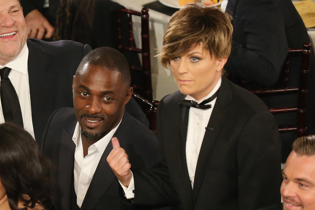 """Mr. Golden Globes"" pranked Idris Elba during the show.  Source: Christopher Polk/NBC/NBCU Photo Bank/NBC"