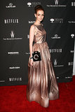 Lydia Hearst at The Weinstein Company's Golden Globe Awards afterparty.