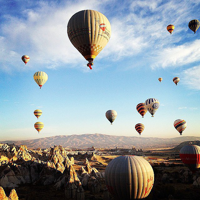 Go on a Hot-Air Balloon Ride in Turkey