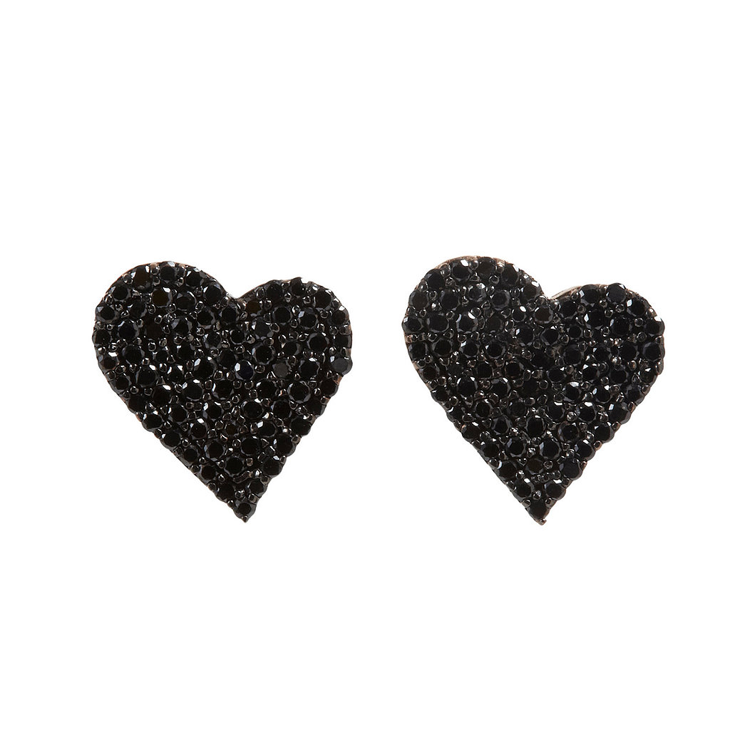 Alexandra Moosally Black Diamond Heart Earrings