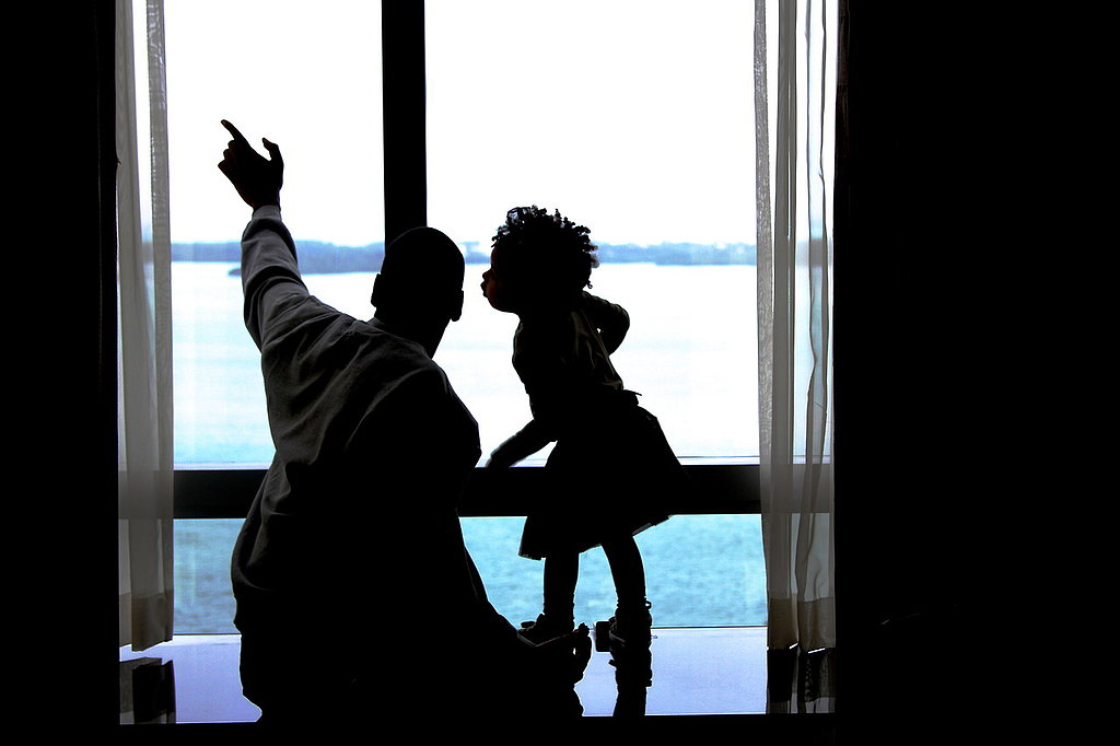 Jay Z and Blue Ivy shared a sweet moment while looking out the window. Source: Tumblr user Beyoncé Knowles