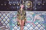 Beyoncé put her legs on display in a Versace ensemble. Source: Tumblr user Beyoncé Knowles