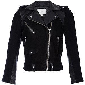 Iro Adila Suede & Leather Moto Jacket