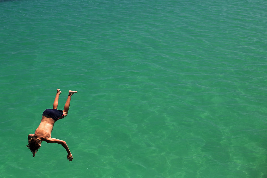 Australians everywhere are jumping into the ocean.