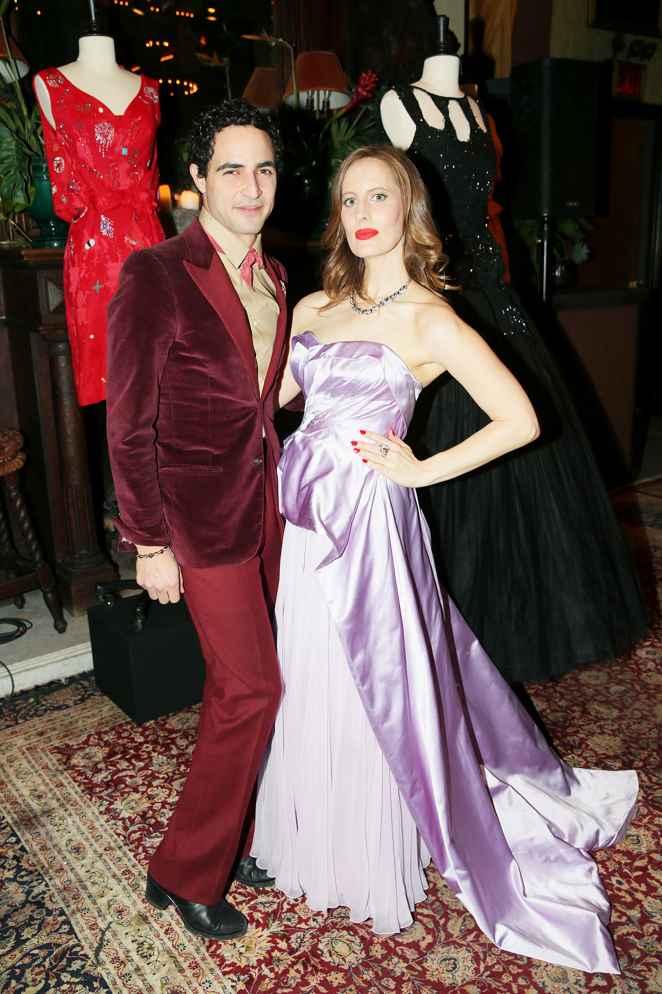 Zac Posen and Liz Goldwyn at the Vintage Vanguard benefit.