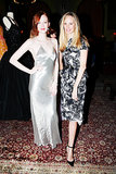 Karen Elson and Lauren Santo Domingo at the Vintage Vanguard benefit.