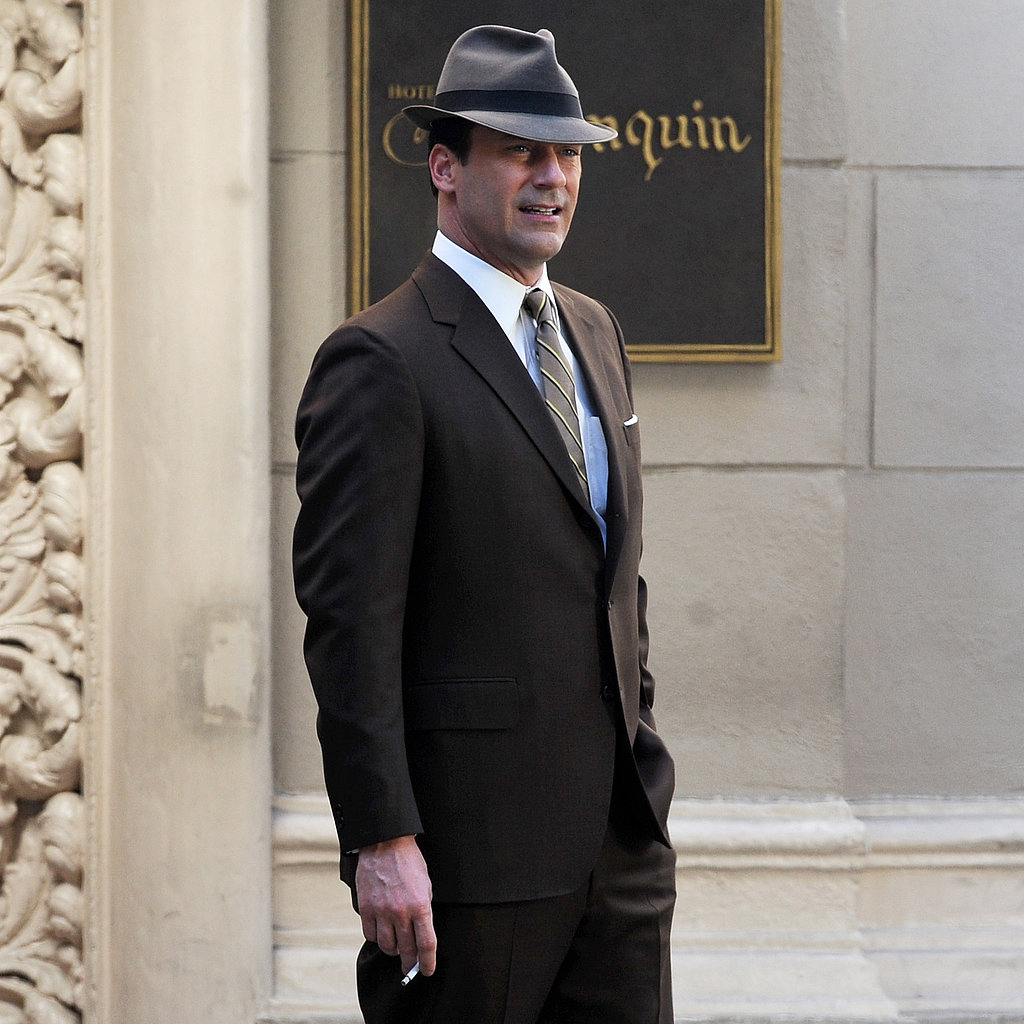Jon Hamm on the Set of Mad Men in LA