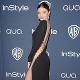 Miranda Kerr's Dress at Golden Globes Party 2014 | Video