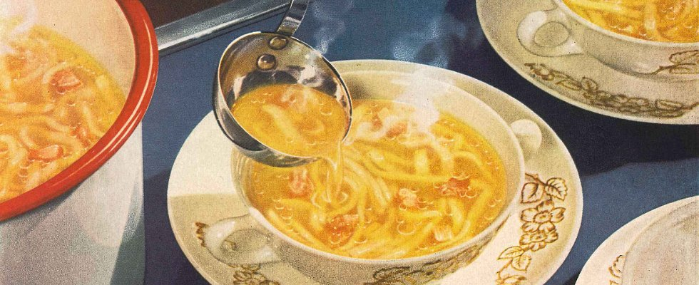 Campbell's Chicken Noodle Soup Ads Through the Ages