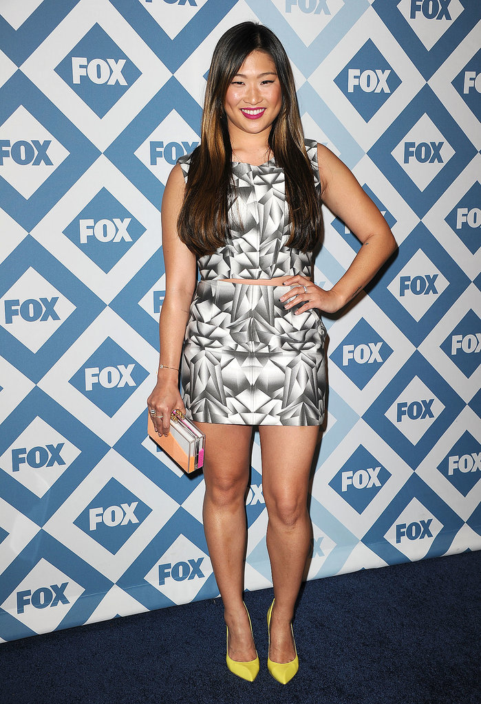Glee's Jenna Ushkowitz went for a daring outfit at the Fox All-Star Party.