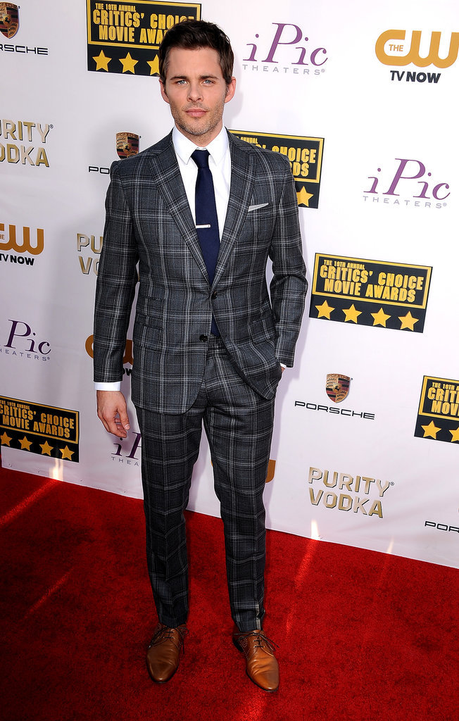 James Marsden switched things up in a plaid suit.