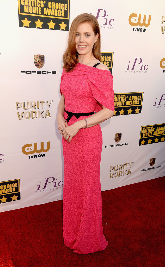 Amy Adams looked like a true movie star in her bold pink gown.