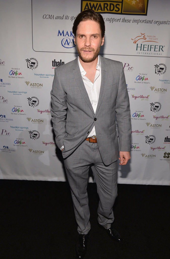 Rush star Daniel Brühl headed into the VIP reception.