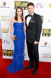Jensen and Danneel Ackles made a cute couple on the red carpet.