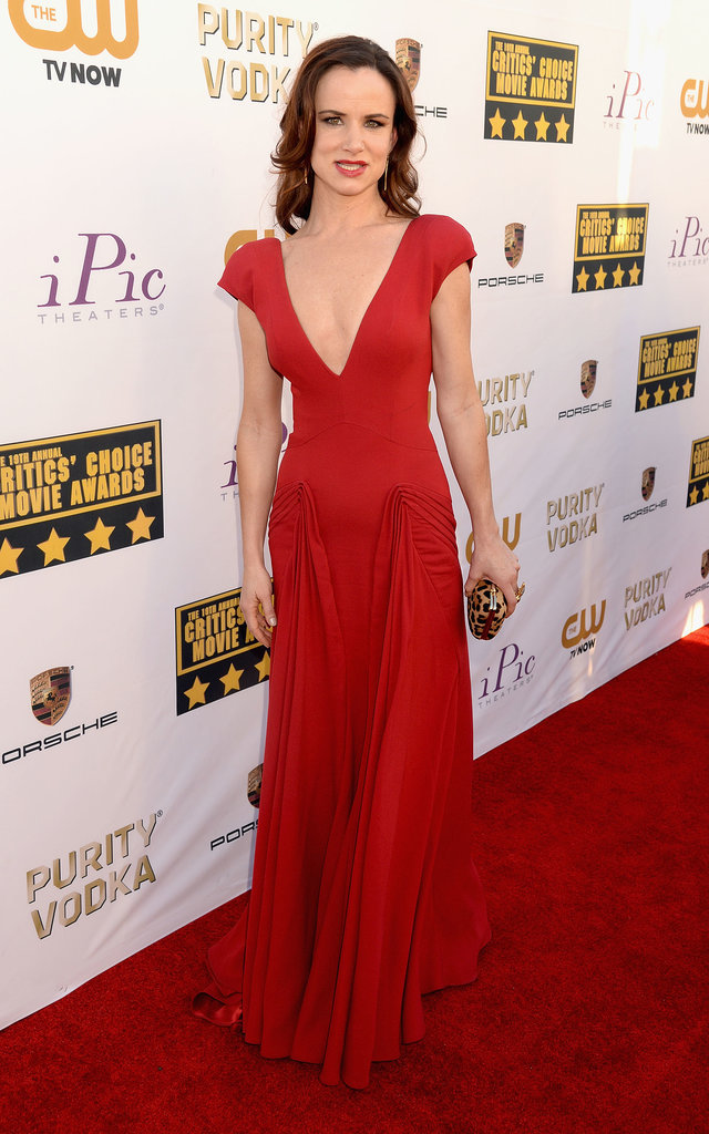 Juliette Lewis was a lady in red at the event.