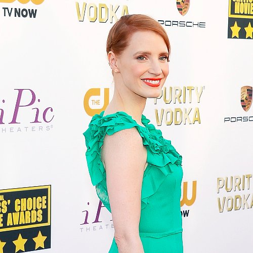 Jessica Chastain Hair at Critics' Choice Awards 2014
