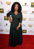 Oprah Winfrey made a stunning arrival at the Critics' Choice Awards.