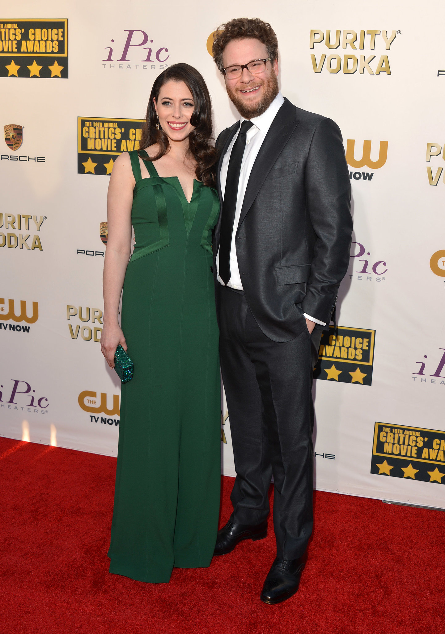 Seth Rogen was all smiles at the Critics' Choice Awards ...