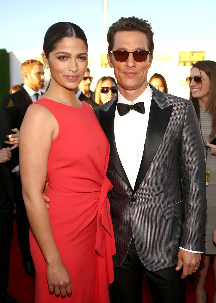 Matthew McConaughey had his arm around his wife, Camila Alves, at the Critics' Choice Awards.