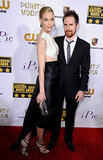 Leslie Bibb and Sam Rockwell hit the Critics' Choice Awards red carpet.
