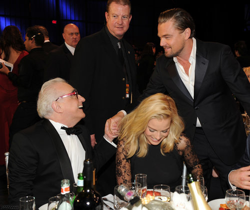 Leonardo DiCaprio shook hands with Martin Scorsese while Margot Robbie laughed at the Critics' Choice Awards.
