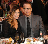 Rita Wilson and Tom Hanks posed for a picture during the show.