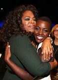 Oprah covered Lupita Nyong'o with love at the Critics' Choice Awards.