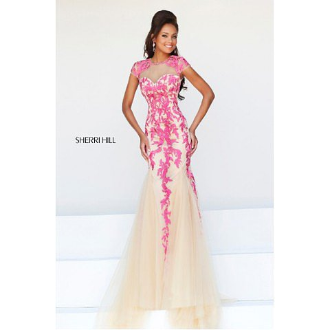 Sherri Hill 1927 Pink Prom Dress