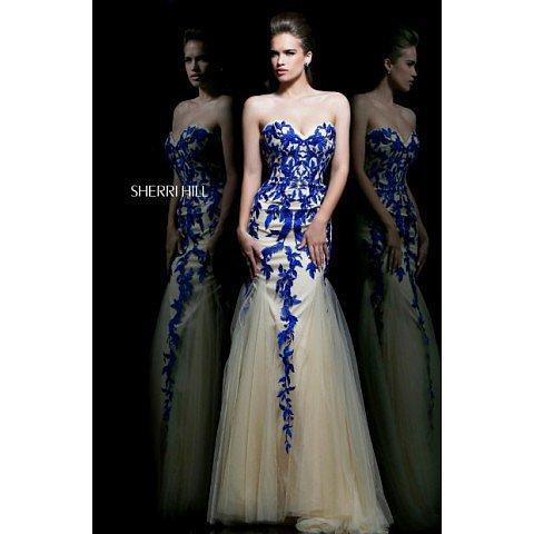 Sherri Hill 1921 Royal Blue Prom Dress