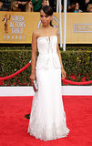 No scandals here. Kerry's white, strapless Rodarte gown was fit for royalty in 2013.