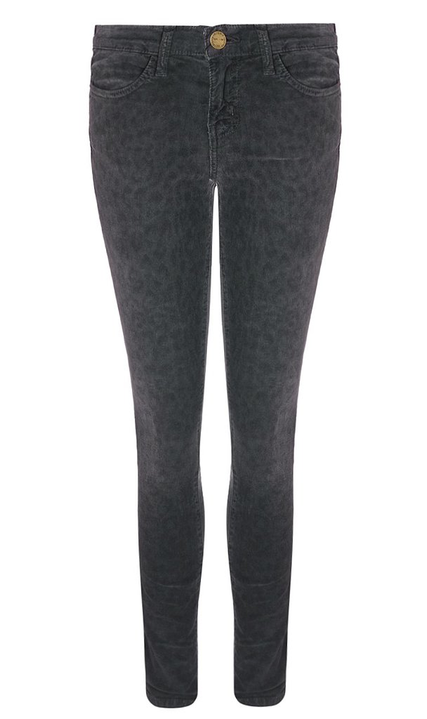 Current/Elliott Charcoal Leopard Corduroy Jeans ($185, originally $370)