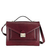 Loeffler Randall Rider in Maroon Leather ($347, originally $395)