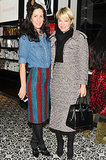 Patricia Herrera Lansing and Julie Macklowe at the Red Door Spa opening in New York.
