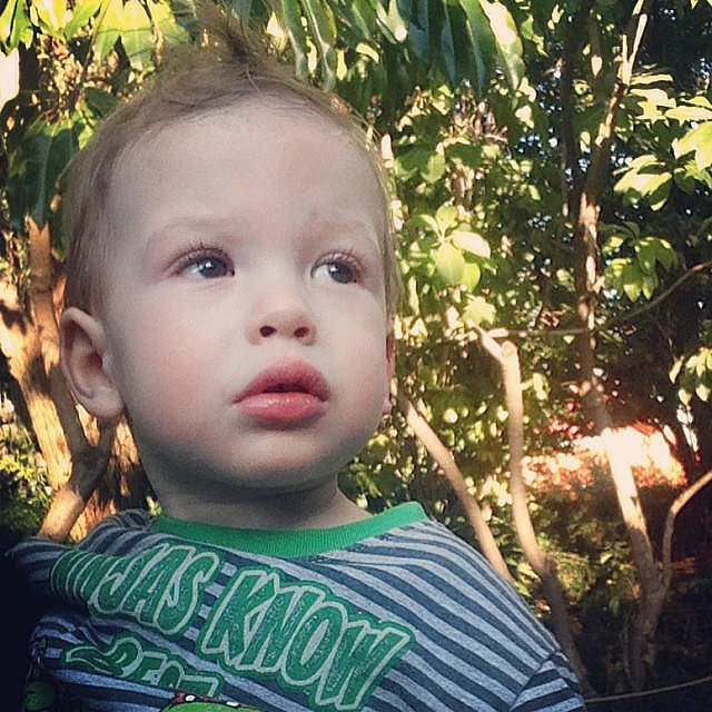 Finn McDermott took his first trip to the zoo with his mom, Tori Spelling. Source: Instagram user torianddean