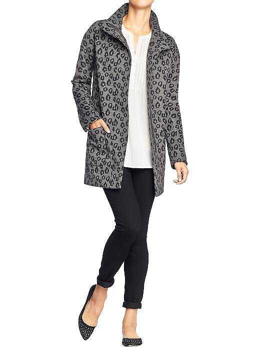 Old Navy Leopard Print Blanket Coat ($30, originally $75)